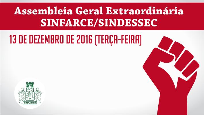Convoca��o Assembleia SINFARCE/SINDESSEC